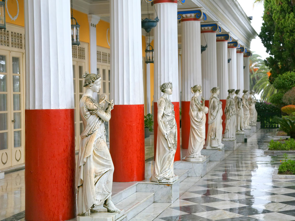Sculptured-Greek-influenced-figures-on-the-grounds-of-the-Achillion-Palace-on-the-island-of-Corfu.