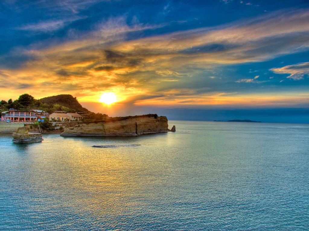 Sunset-over-Corfu-island-Greece