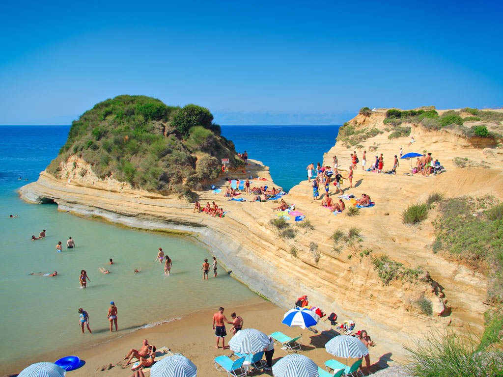 people-at-the-Canal-d-amour-beach-on-Corfu-island-Greece