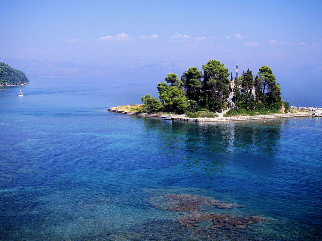 small-island-off-the-coast-of-Corfu-town-greece